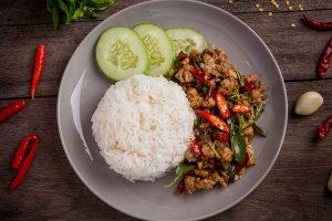รีวิวผัดกะเพราอาหารไทย Go inter